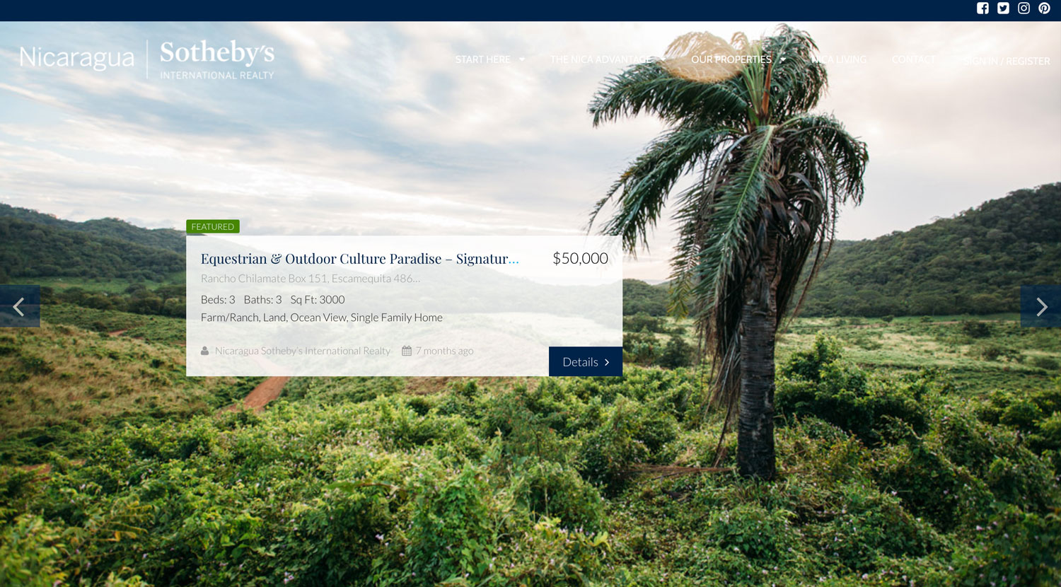 Nicaragua Sotheby's Purchase Paradise